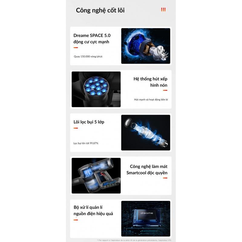 Máy Hút Bụi Cầm Tay Không Dây Xiaomi Dreame V12 - Bản Quốc Tế